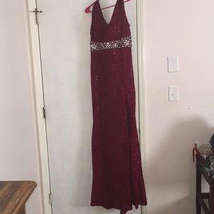 LA Scala Burgundy Dress